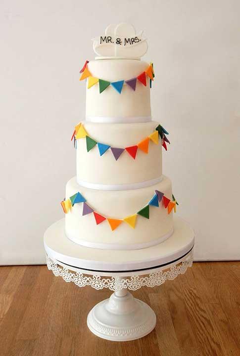 Rainbow Wedding Cakes  Wedding Cakes The Cakery Leamington Spa