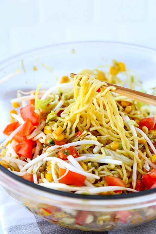 Raman Noodles Healthy  Ramen Noodle Salad Pickled Plum Food And Drinks