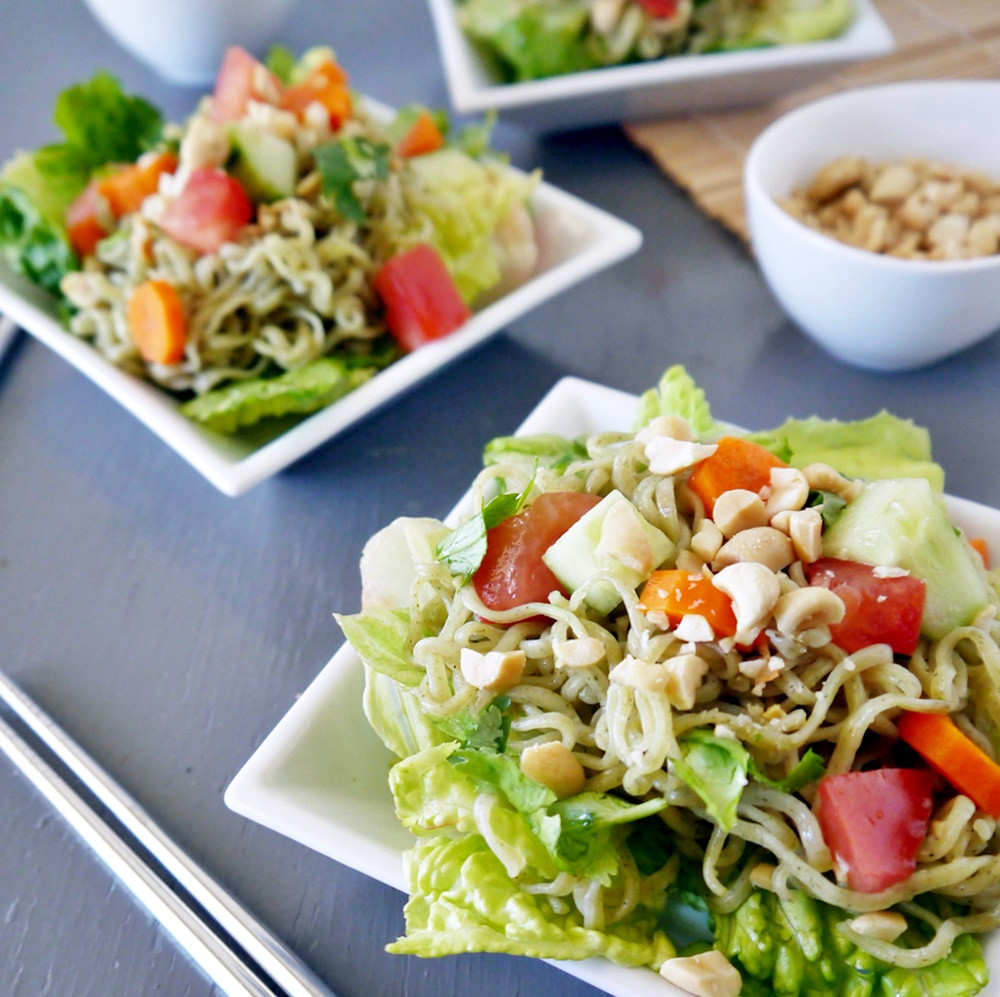 Raman Noodles Healthy  HEALTHY RAMEN NOODLE SALAD RECIPEVegan Chow Down