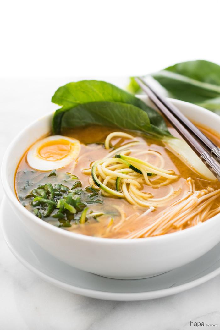 Ramen Noodles Healthy  Spicy Miso Zucchini Ramen Noodles