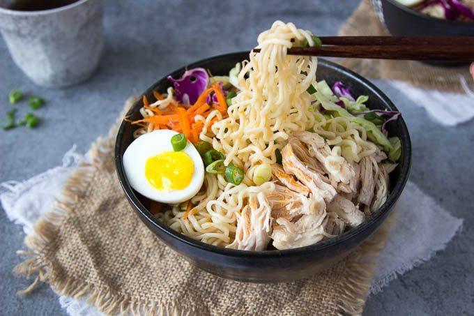 Ramen Noodles Healthy  Healthy Chicken Ramen Bowl clean eating Simple Healthy