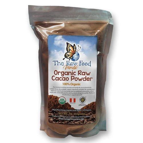 Raw Organic Cocoa Powder  Raw Organic Cacao Powder 16oz The Raw Food World