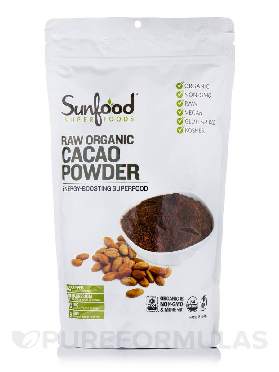 Raw Organic Cocoa Powder  RAW Organic Cacao Powder 1 lb 454 Grams