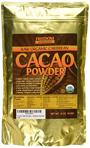 Raw Organic Cocoa Powder  Raw Organic Cacao Powder Best Dark Chocolate Taste 100