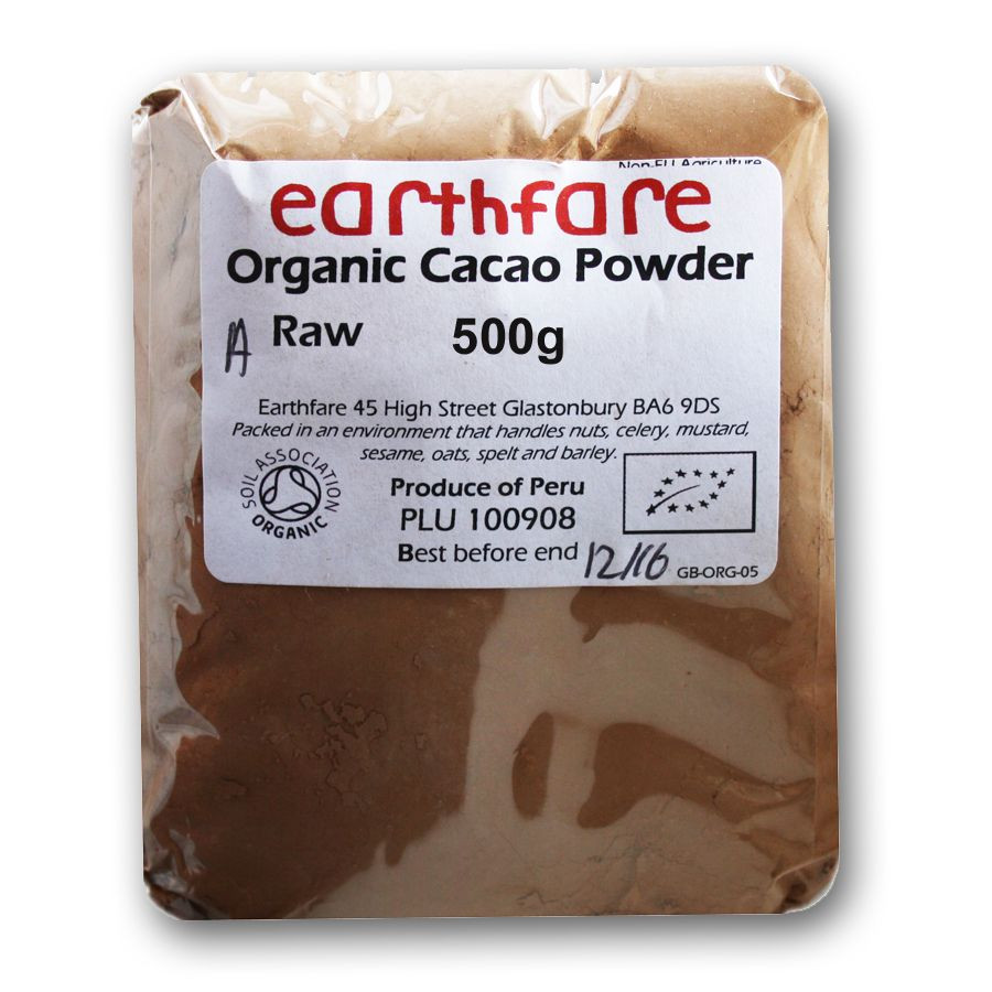 Raw Organic Cocoa Powder  Pure Raw Organic Cacao Powder 500g