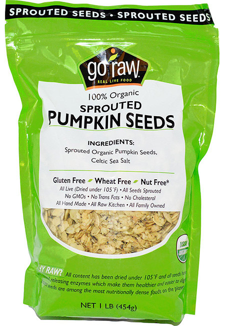 Raw Organic Pumpkin Seeds  Go Raw Organic Sprouted Pumpkin Seeds – OrganicPowerFoods