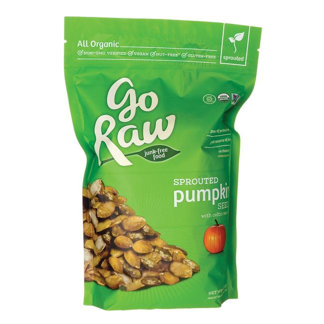 Raw Organic Pumpkin Seeds  Go Raw Sprouted Pumpkin Seeds with Celtic Sea Salt 16 oz