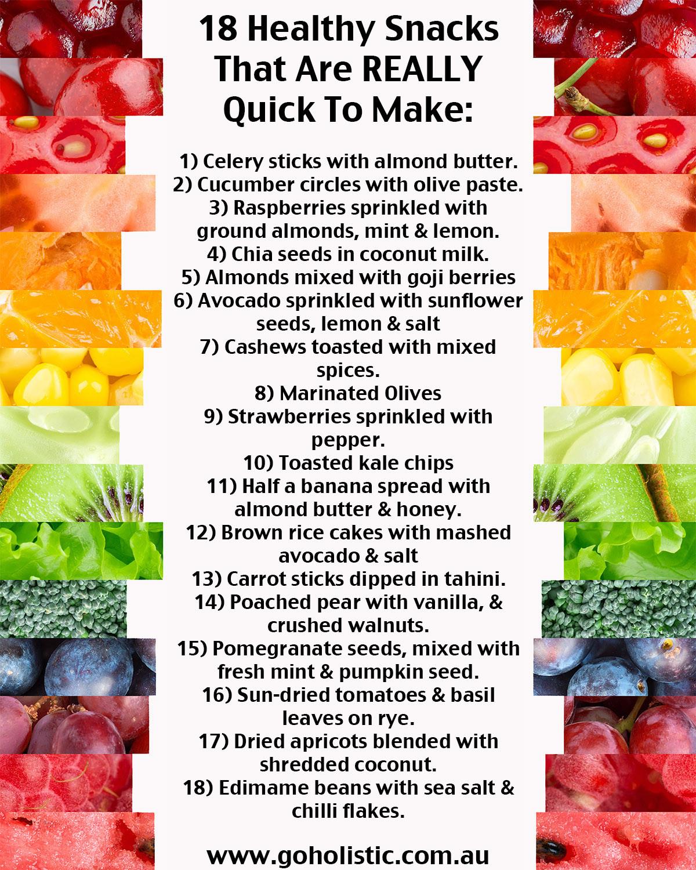 Really Healthy Snacks  Blog Go Holistic Yoga & Meditation Yoga in Kogarah