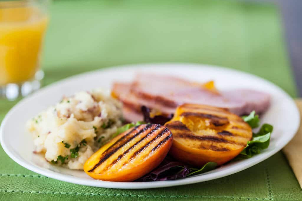 Recipe For Easter Ham  Easter Ham Recipe with Grilled Peaches