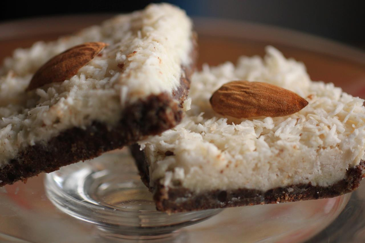 Recipe For Healthy Desserts  No Bake Almond Joy Bars AIP Vegan Dairy & Gluten Free