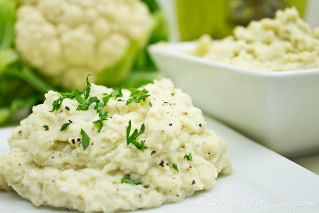 Recipes For Cauliflower Mashed Potatoes Healthy  Recipe Perfect Mashed Cauliflower