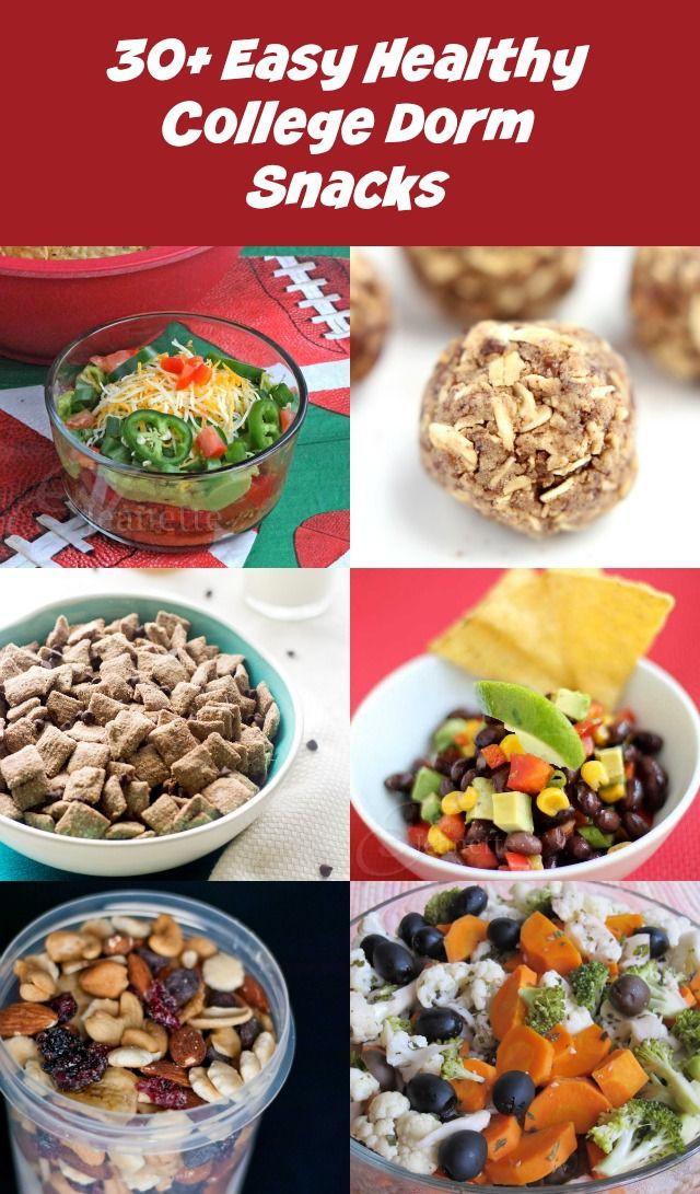 Recipes For Healthy Snacks  30 Easy Healthy College Dorm Room Snack Recipes