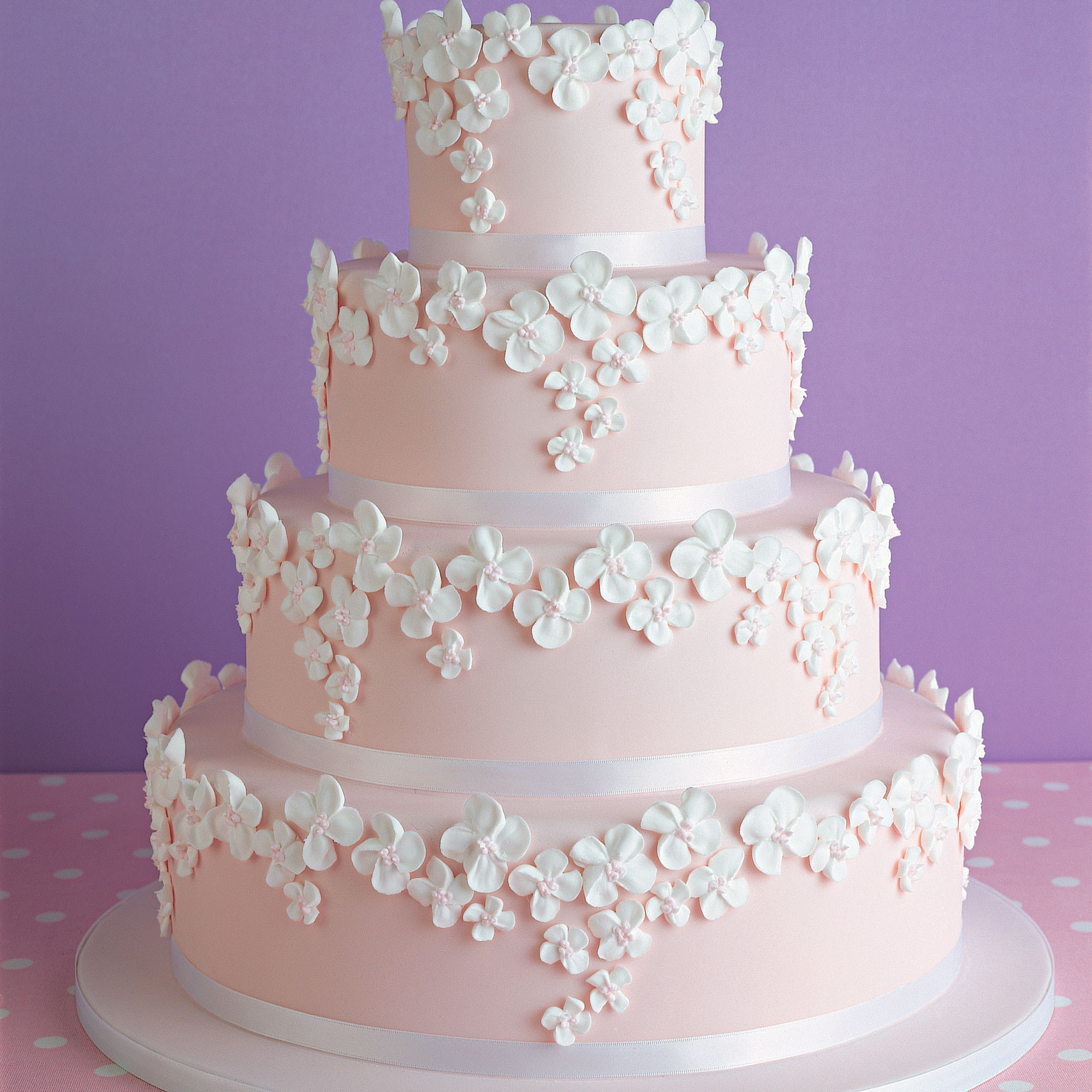 Recipes For Wedding Cakes  Pink Wedding Cake Woman And Home
