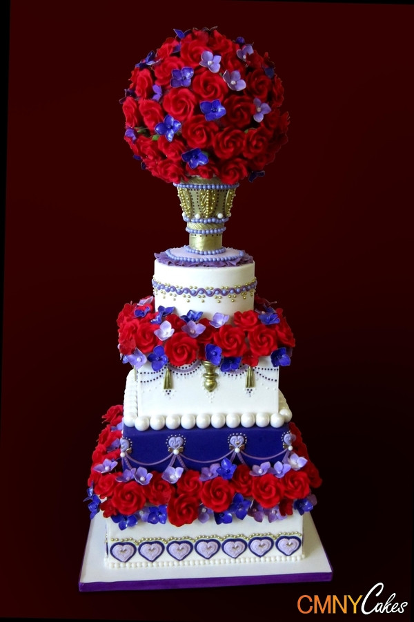 Red And Purple Wedding Cakes  Red And Purple Wedding Cakes to Pin on Pinterest