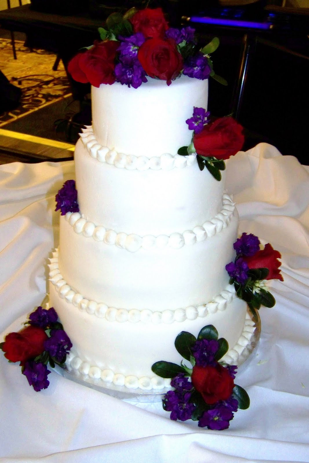 Red And Purple Wedding Cakes  Sweet Cakes and Bakes WEDDING CAKE