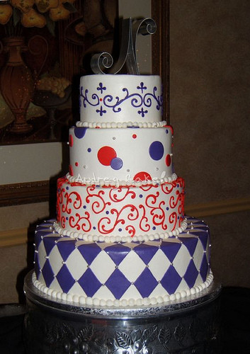 Red And Purple Wedding Cakes  Purple and Red Wedding Cake