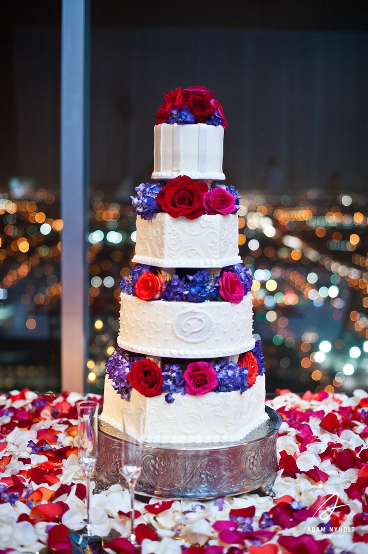 Red And Purple Wedding Cakes  1000 images about Purple and Red Wedding on Pinterest
