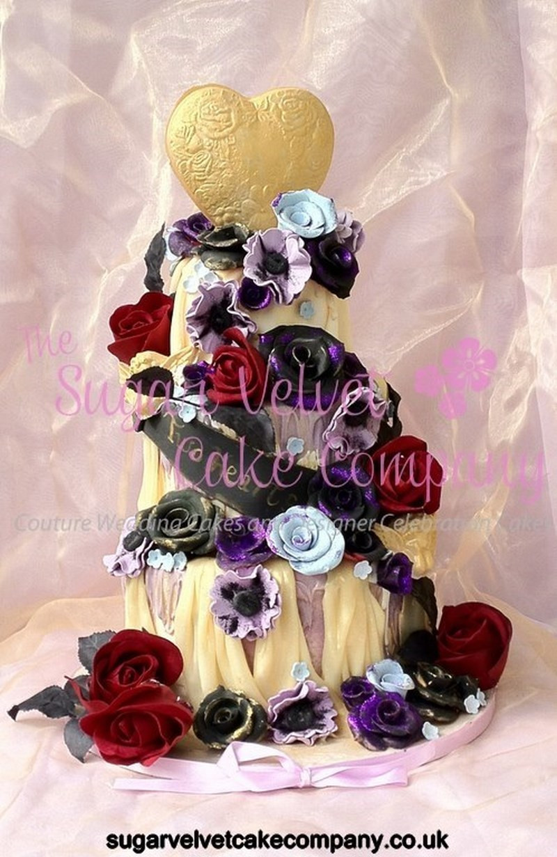 Red And Purple Wedding Cakes  Red and purple wedding cake idea in 2017