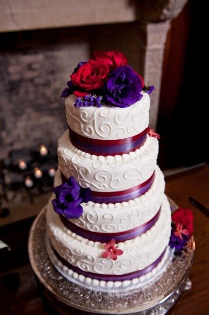 Red And Purple Wedding Cakes  74 best Purple Wedding Theme images on Pinterest