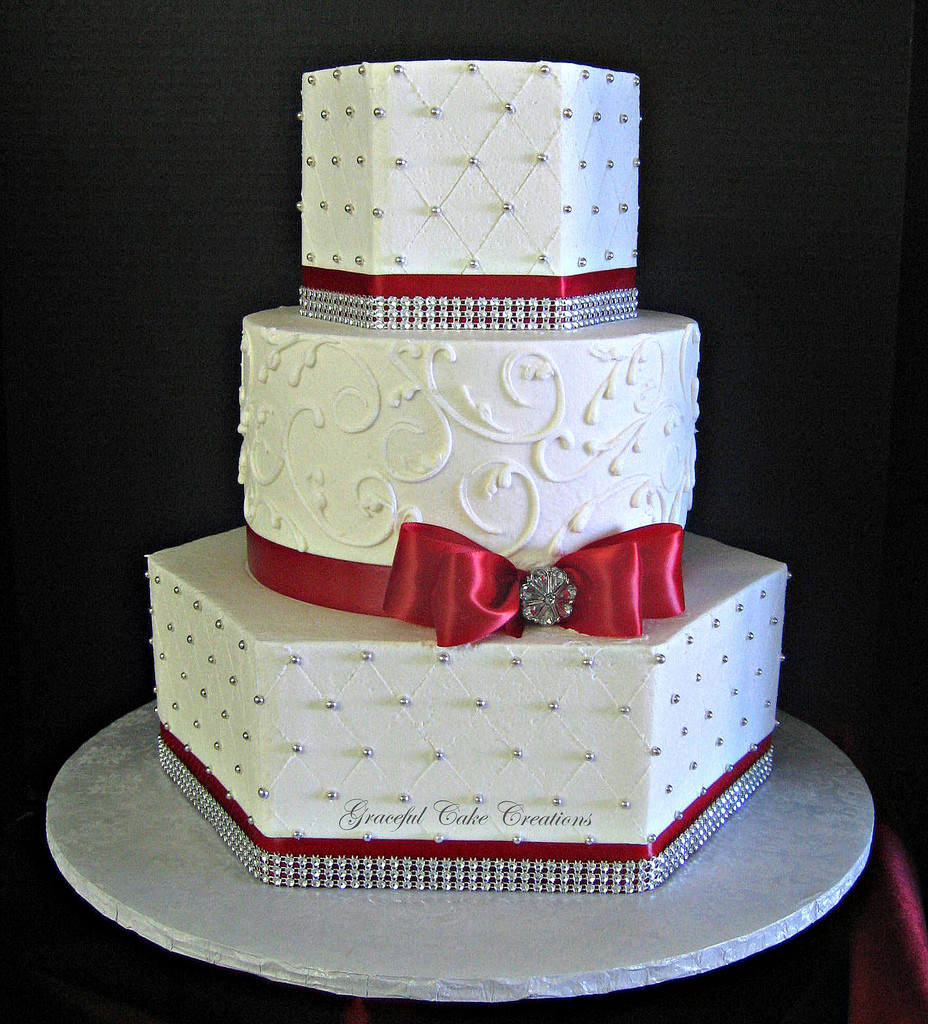 Red And Silver Wedding Cakes  Red and silver wedding cakes idea in 2017