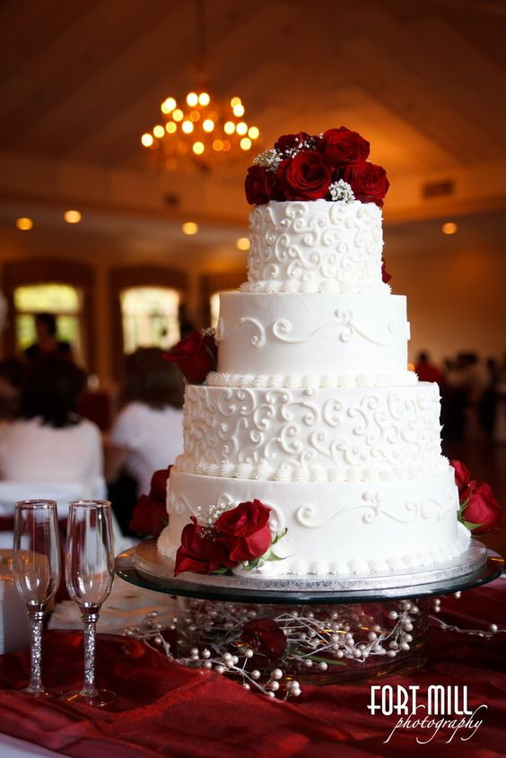 Red And White Wedding Cakes Pictures  Wedding Ideas by Colour Red Wedding Cakes