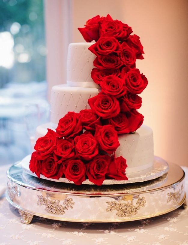 Red And White Wedding Cakes With Roses  Best 25 Red rose wedding ideas on Pinterest