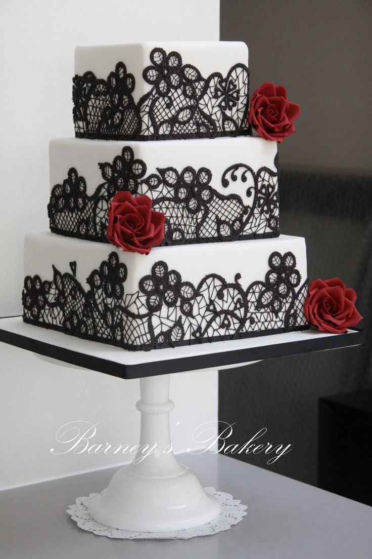 Red Black And White Wedding Cake  49 Amazing Black and White Wedding Cakes Deer Pearl Flowers