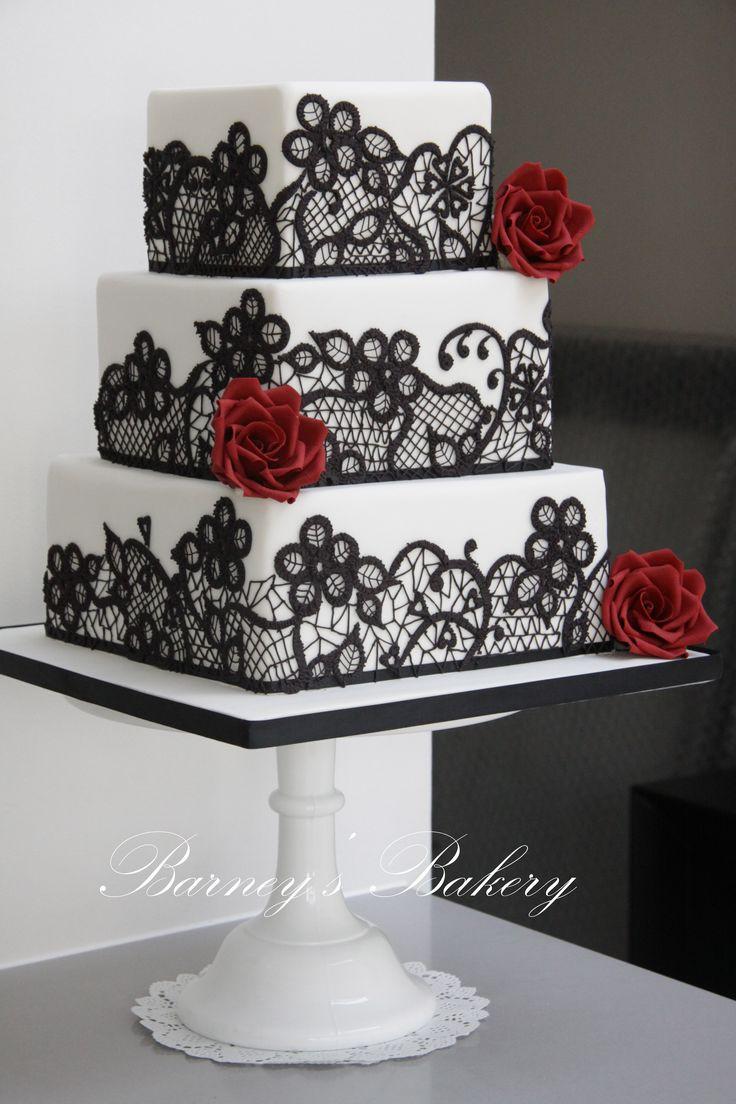 Red Black Wedding Cakes  49 Amazing Black and White Wedding Cakes Deer Pearl Flowers
