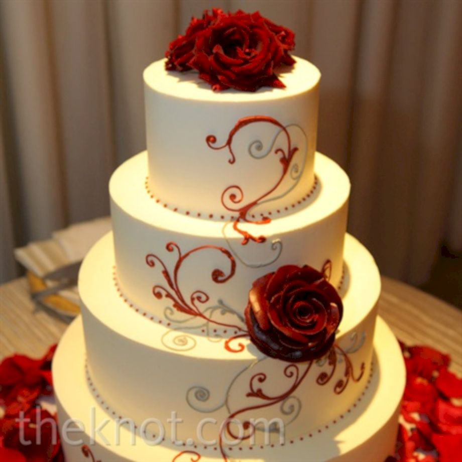 Red Black White Wedding Cake  21 Red Black And White Wedding Cakes VIs Wed