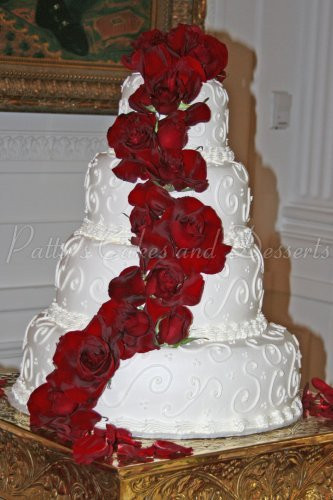 Red Rose Wedding Cakes  Gorgeous wedding cakes Archives Patty s Cakes and Desserts