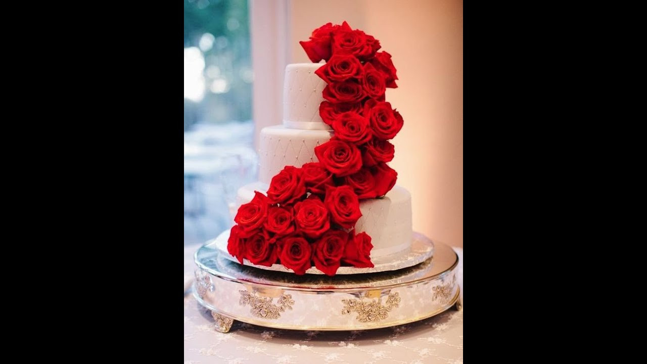 Red Rose Wedding Cakes  Healthy lifestyle 100 THE MOST BEAUTIFUL WEDDING CAKES