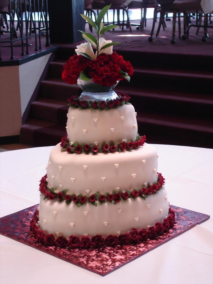 Red Velvet Wedding Cake  Heart shaped Wedding cake Red Velvet