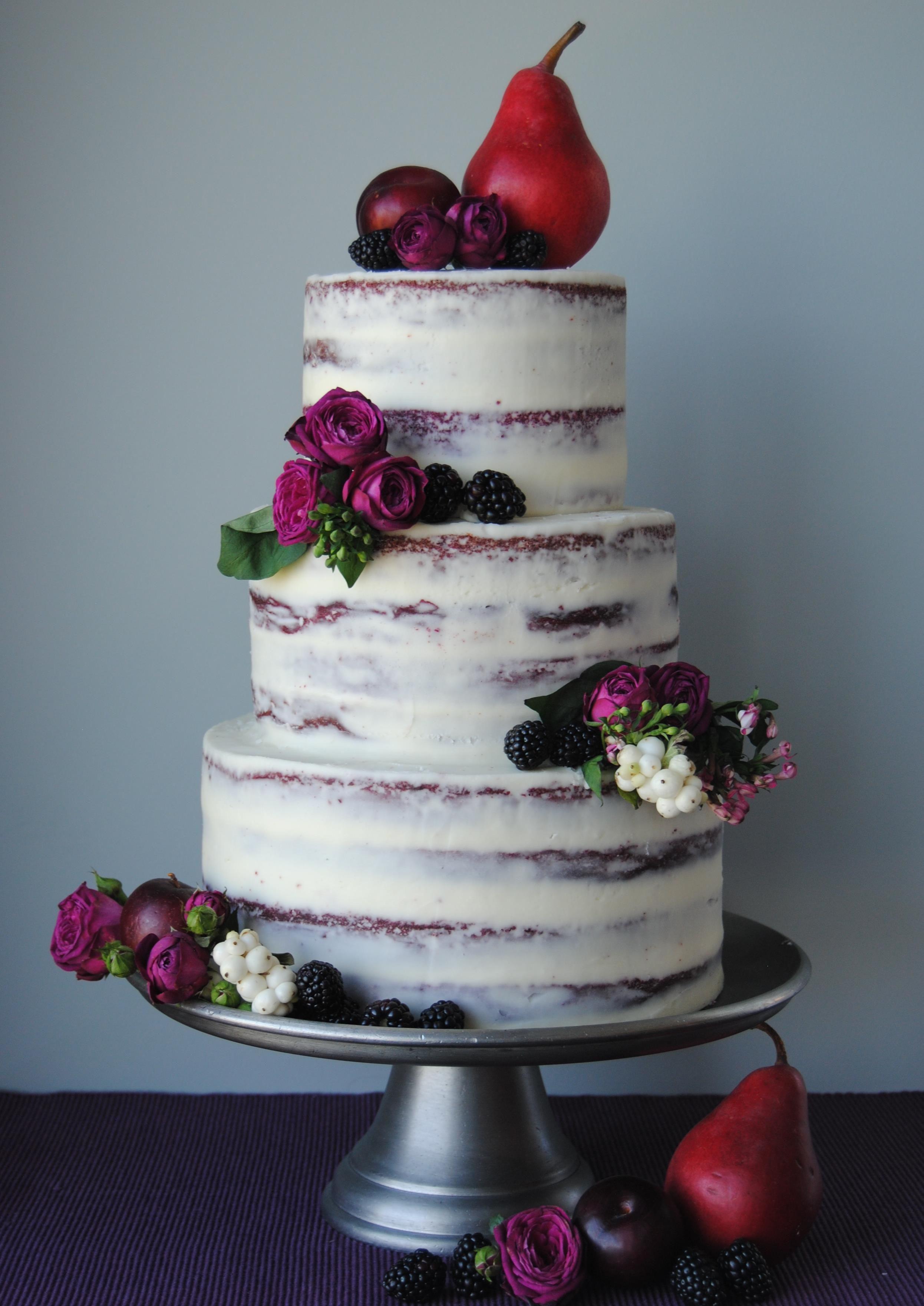 Red Velvet Wedding Cake  Semi red velvet wedding cake with cream cheese