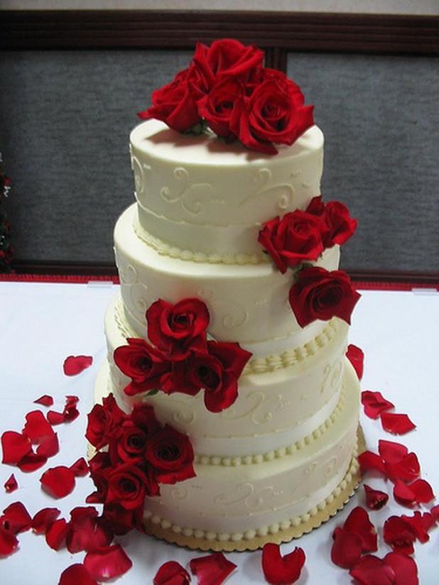Red White Wedding Cakes  Red & White Wedding Cakes Stylish Eve