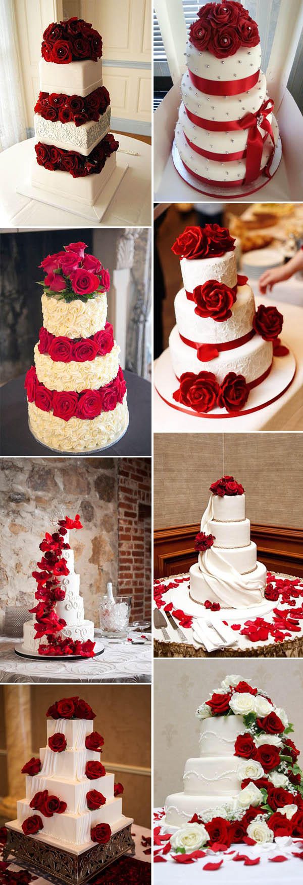Red White Wedding Cakes  40 Inspirational Classic Red and White Wedding Ideas