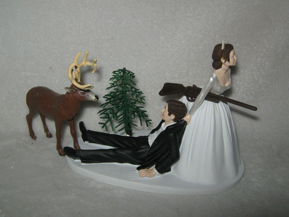 Redneck Wedding Cakes Toppers  Wedding Party Redneck Deer Hunter Hunting Cake Topper