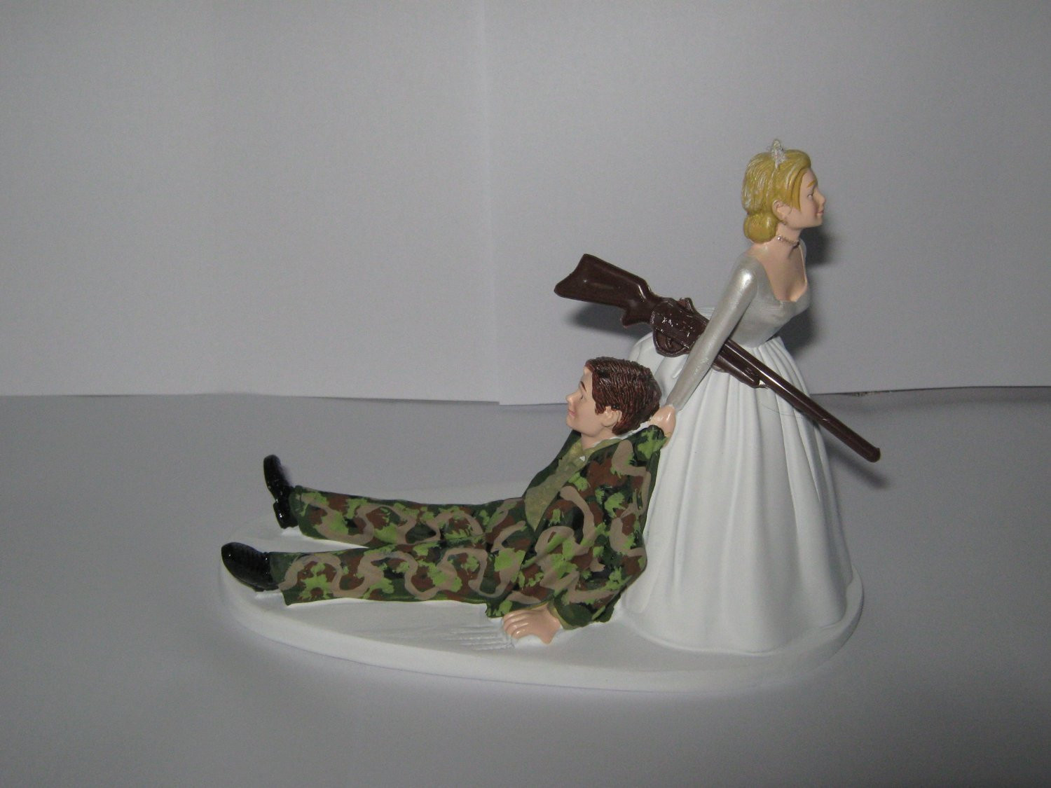 Redneck Wedding Cakes Toppers  Wedding Reception Ceremony Party Redneck Camo Hunting Hunter