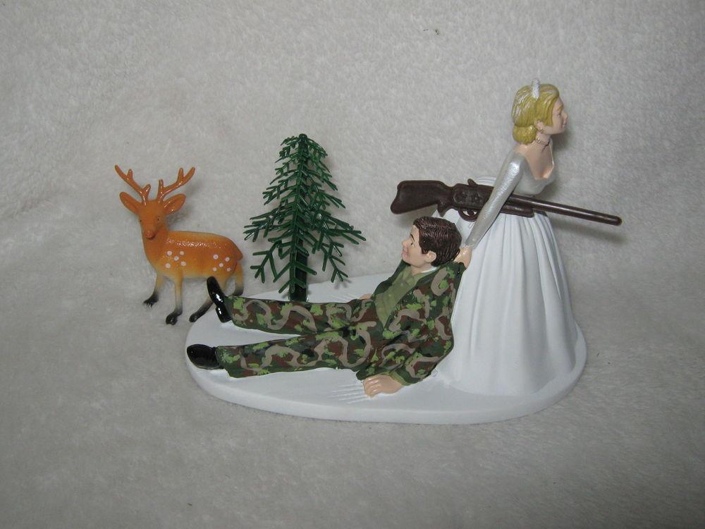 Redneck Wedding Cakes Toppers  Wedding Reception Party Buck Deer Camo Hunter Hunting
