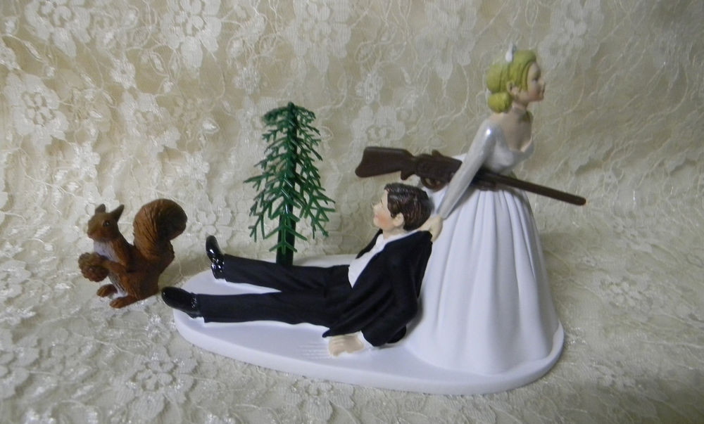 Redneck Wedding Cakes Toppers  Wedding Party Reception Squirrel Cake Topper Hunter