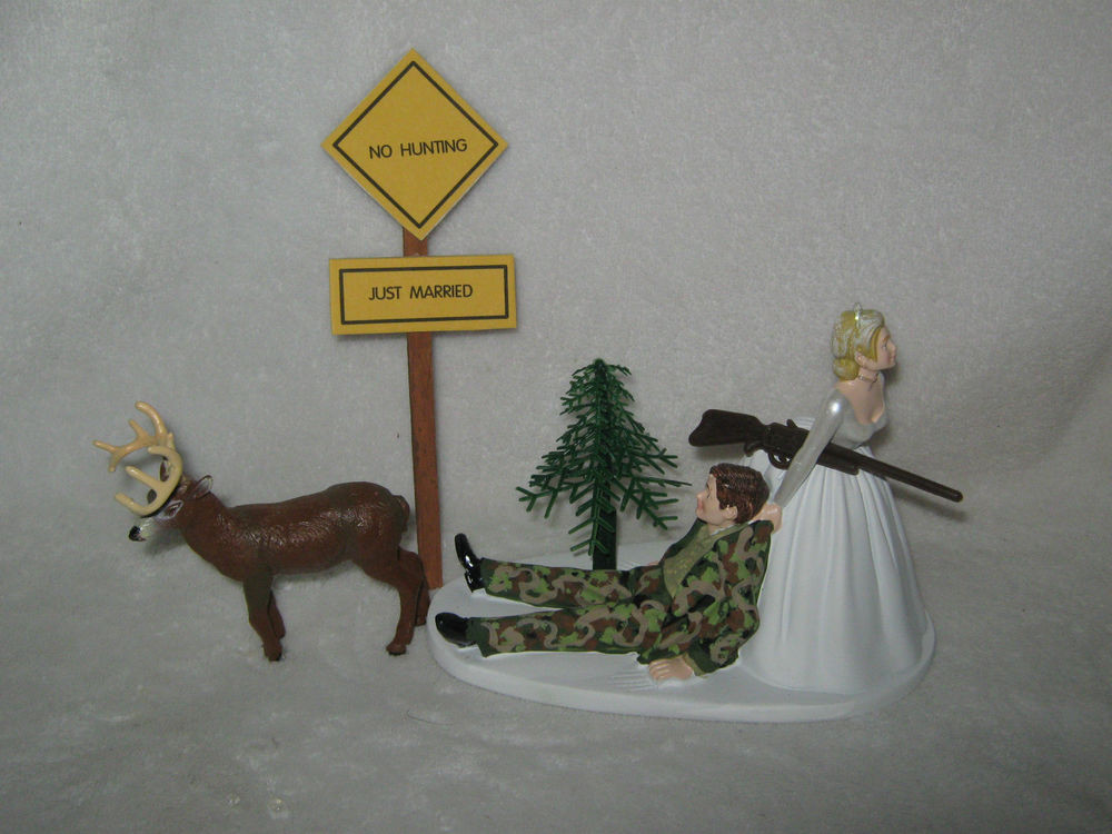 Redneck Wedding Cakes Toppers  Wedding Reception Party Camo Groom Deer Hunter Hunting