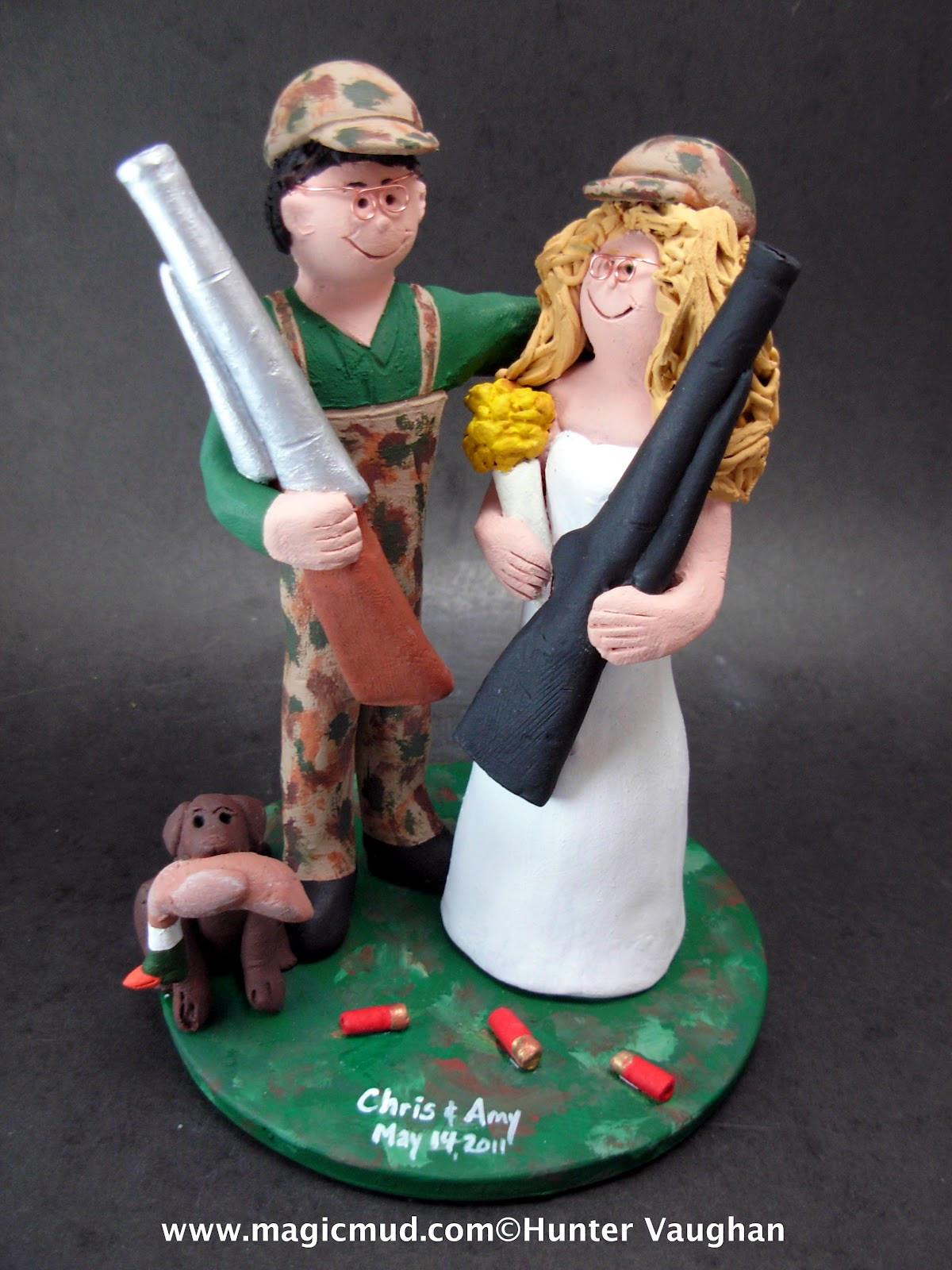 Redneck Wedding Cakes Toppers  custom wedding cake toppers Redneck Wedding Cake Topper