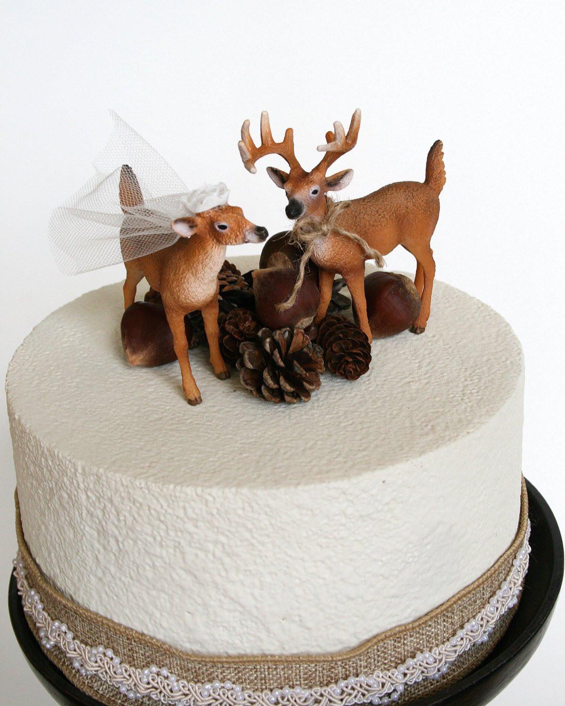 Redneck Wedding Cakes Toppers  Redneck Cake Topper Deer Cake Topper Wedding Cake Topper