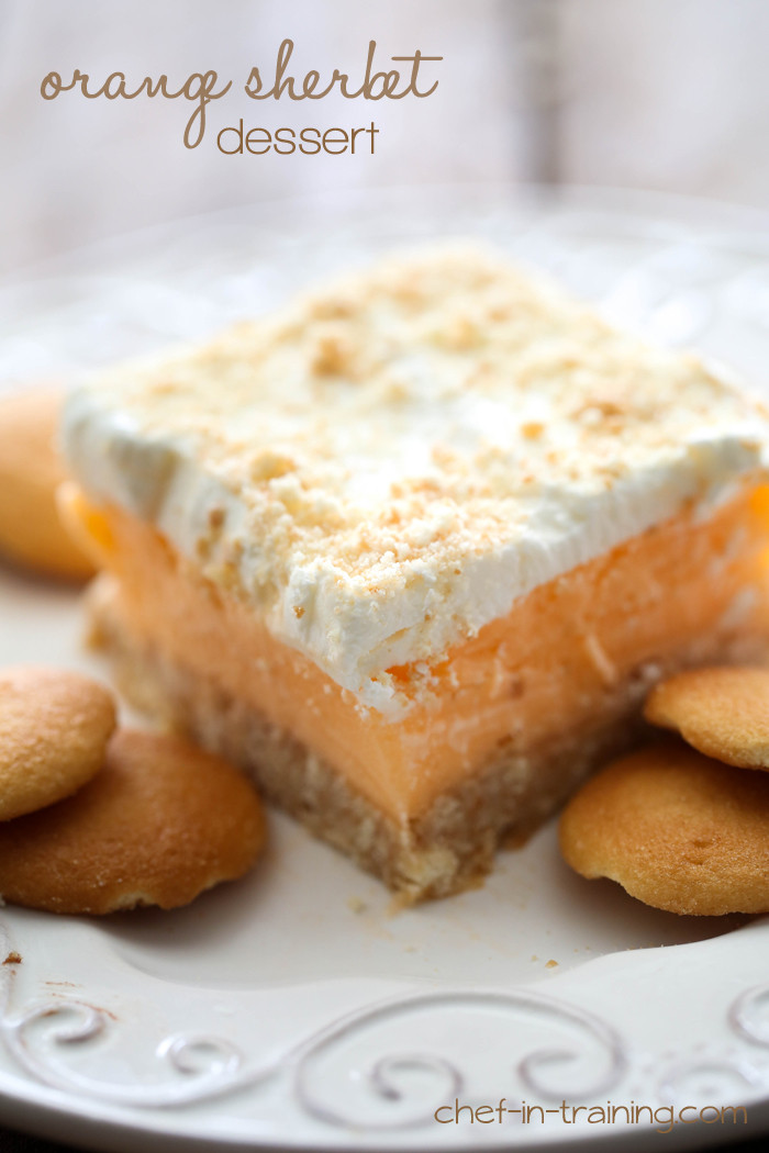 Refreshing Summer Desserts  Orange Sherbet Dessert Chef in Training
