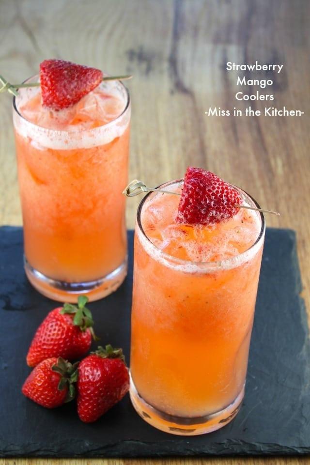 Refreshing Summer Vodka Drinks  Strawberry Mango Coolers Miss in the Kitchen