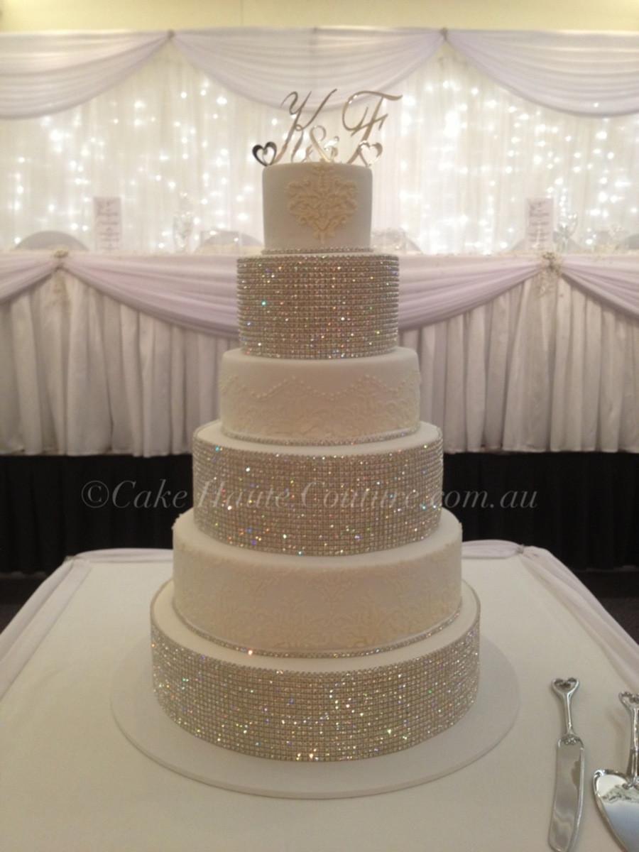 Rhinestone Wedding Cakes  Super Bling Wedding Cake CakeCentral