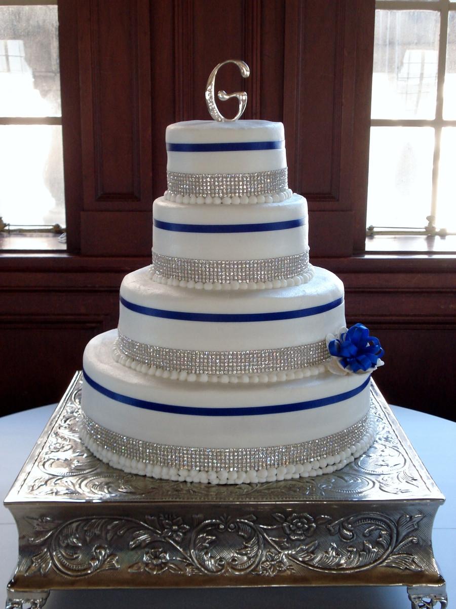 Rhinestone Wedding Cakes  Wedding Cake Bling CakeCentral
