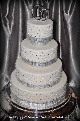 Rhinestone Wedding Cakes  Bling Bling Wedding Cake