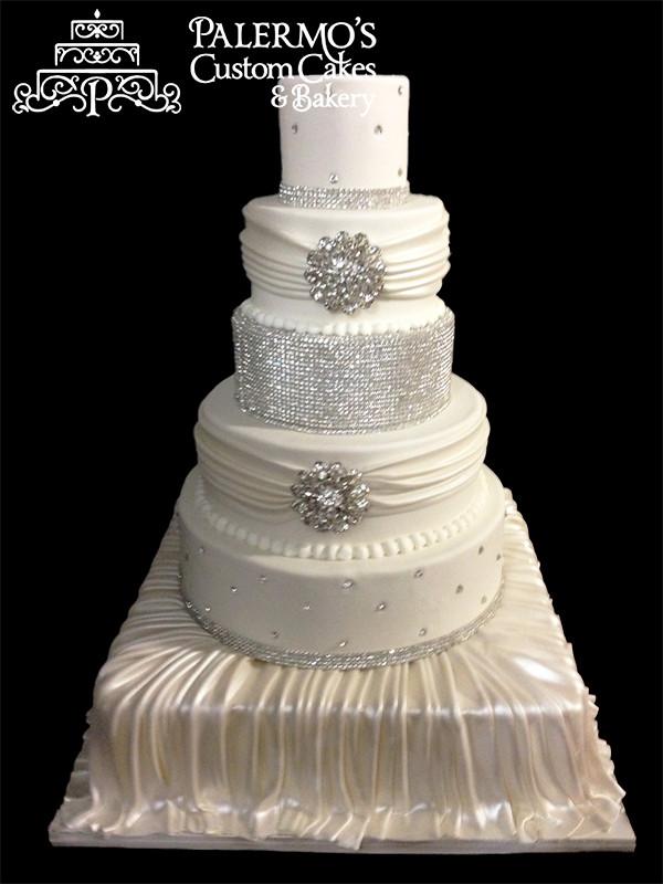 Rhinestone Wedding Cakes  Rhinestone Jewels Wedding Cake