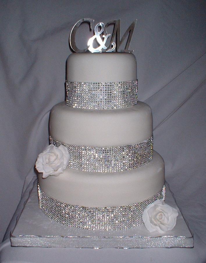 Rhinestone Wedding Cakes  Blingy Wedding Cakes