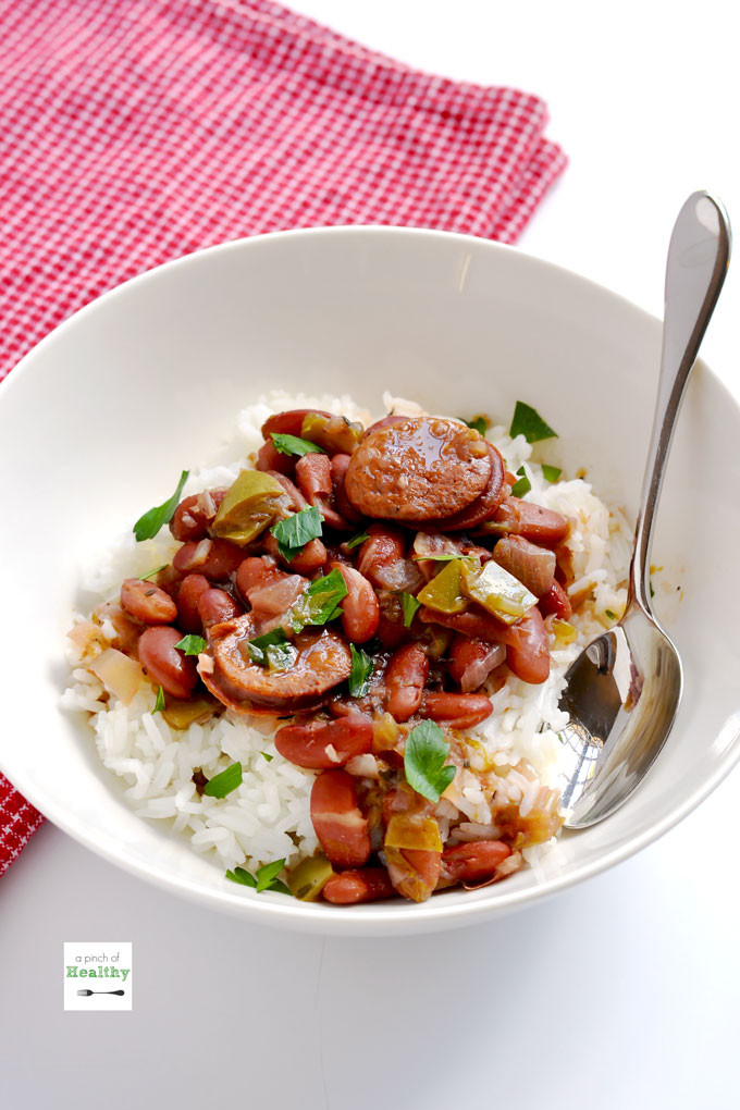 Rice And Beans Healthy  Instant Pot Red Beans and Rice A Pinch of Healthy